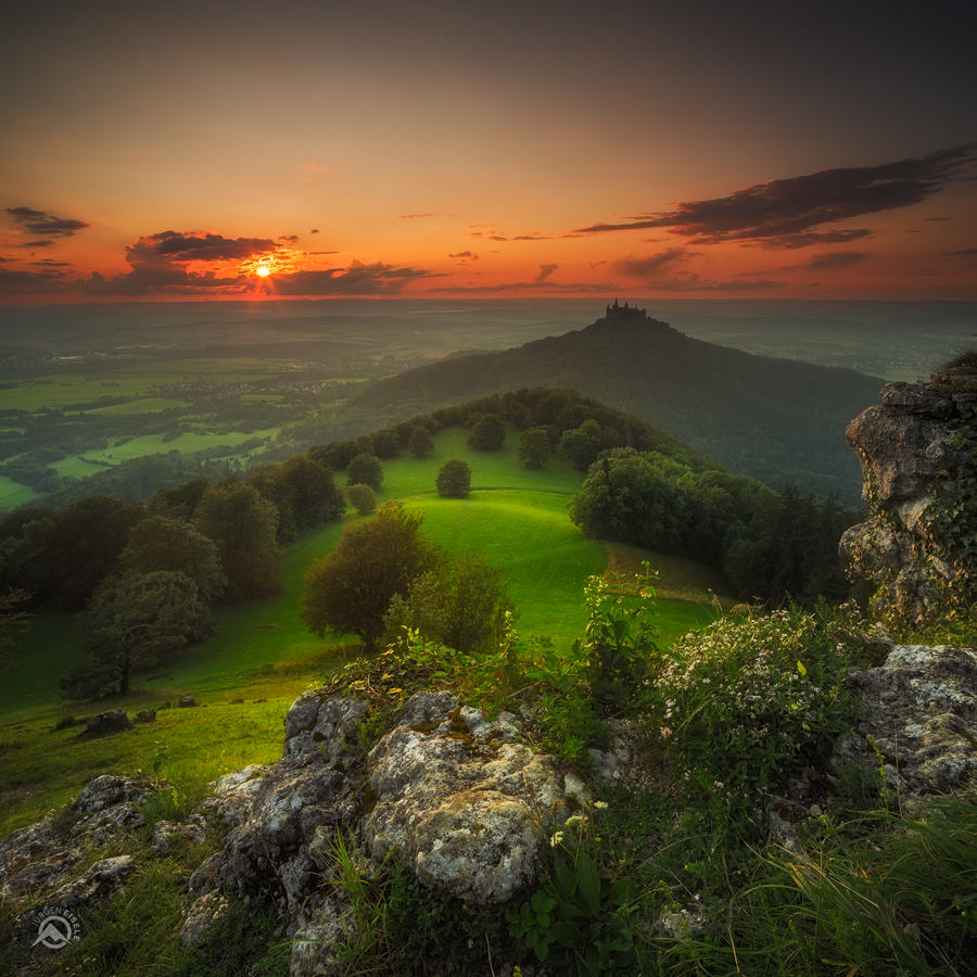 Colorful Sunset Burg Hohenzollern Jurgen Eisele Fotografie