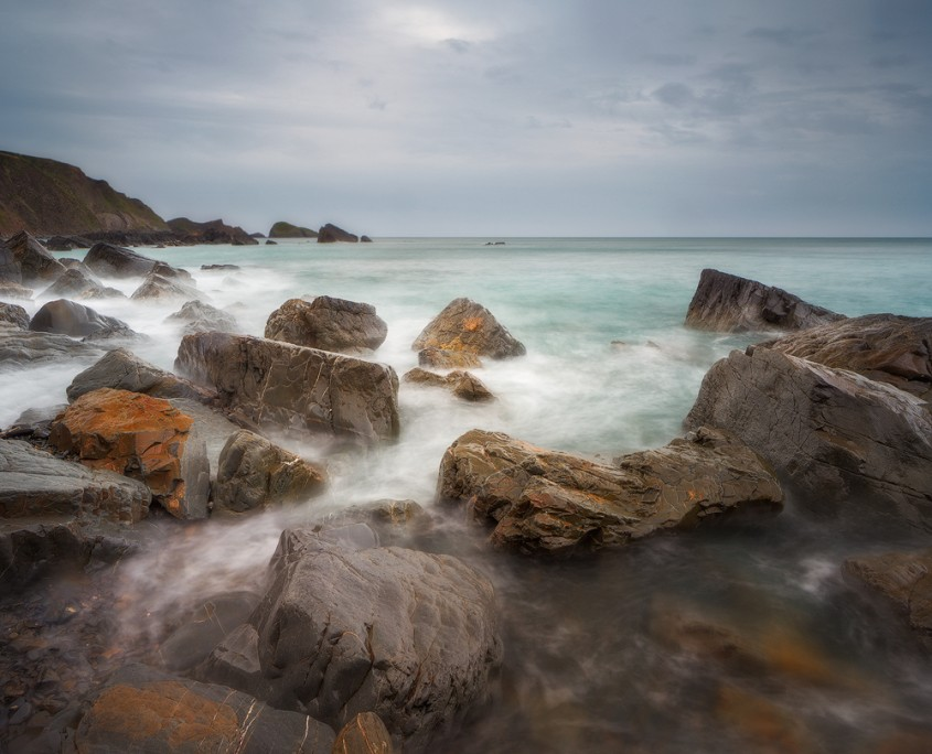 Colored Rocks |Welcombe Mouth, Devon, UK