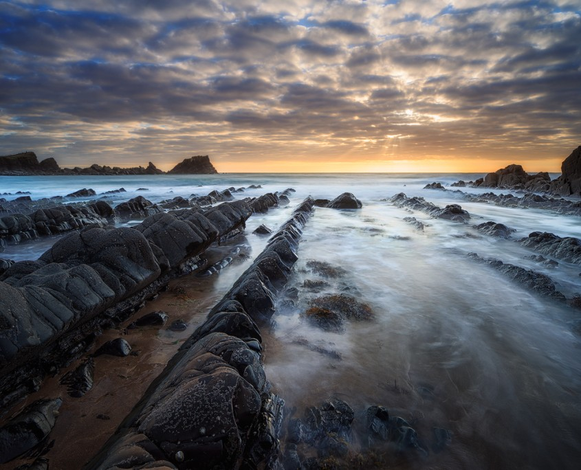 Sunset at Hartland Quay, Devon, UK