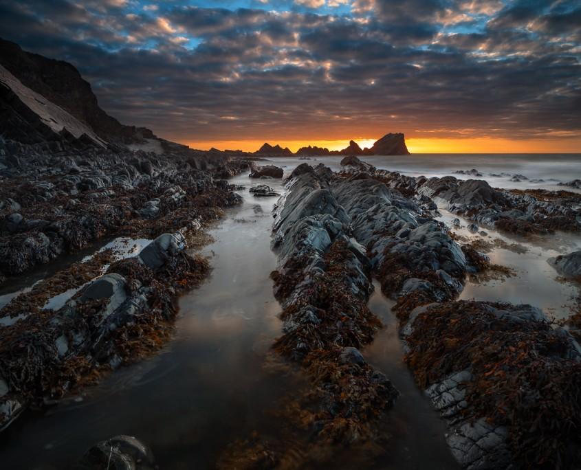Towards Sunset | Hartland Quay, Devon, UK