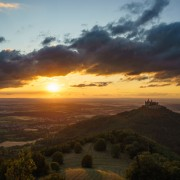 Sonnenuntergang Burg Hohenzollern im Zeitraffer