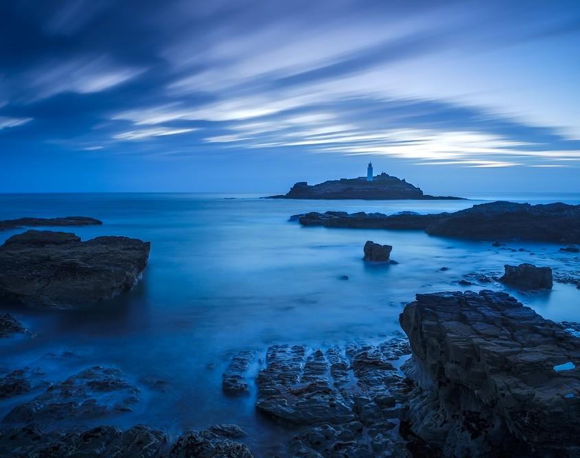 Blue Hour at Godrevy | Godrevy Lighthouse, Cornwall, England, UK