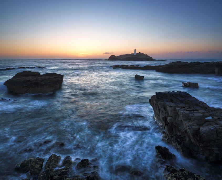 Godrevy Sunset | Godrevy Lighthouse, Cornwall, England, UK